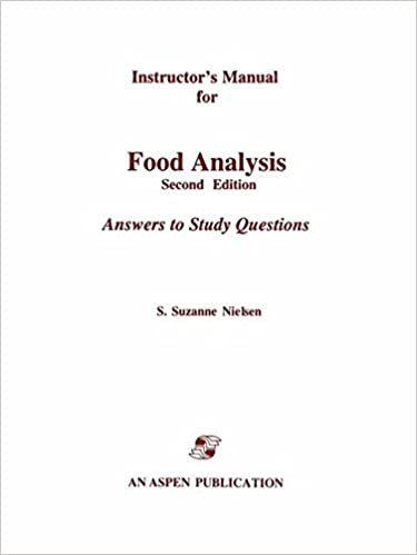 food analysis instructor s manual