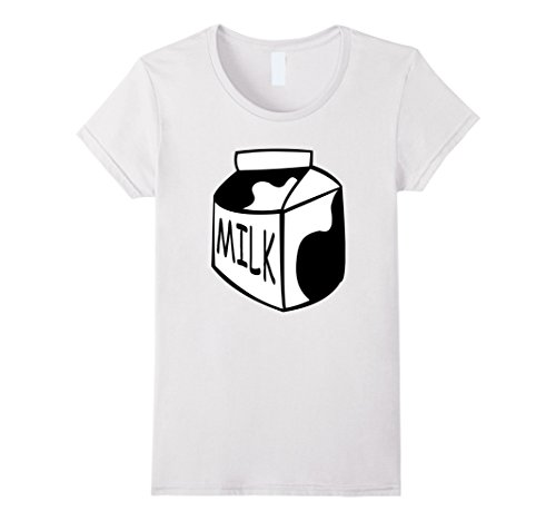 Last Minute Scary Costumes (Womens Funny Last Minute Halloween Costume Milk T-Shirt Big Tee XL White)