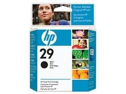 HEWLETT PACKARD 29 Black Ink crtg yield 720