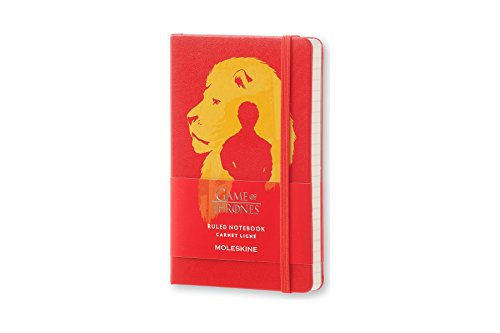 Moleskine Game of Thrones Limited Edition Notebook, Pocket, Ruled, Red, Hard Cover (8051272893076)