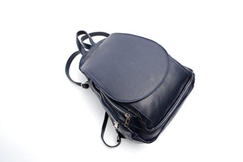 Pretty Nana - Bolso mochila  de Piel para mujer Navy