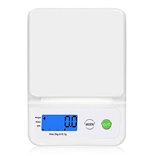 Premium High Precision Digital Milligram Scale, 3KG0.1G Reloading Jewelry Scale with Case, Tweezer, Weighing Pan, Pocket Size ()