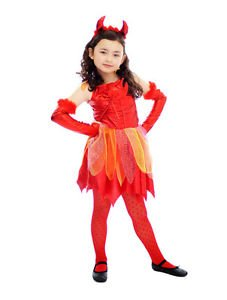halloween childs girls devil costume age 10 12