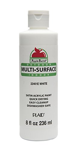 - Apple Barrel Multi-Surface Paint in Assorted Colors (8 oz), 22461E White