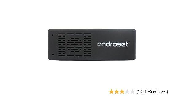Amazon com: ANDROSET Quad Core Android TV Box Mini PC Smart TV Stick