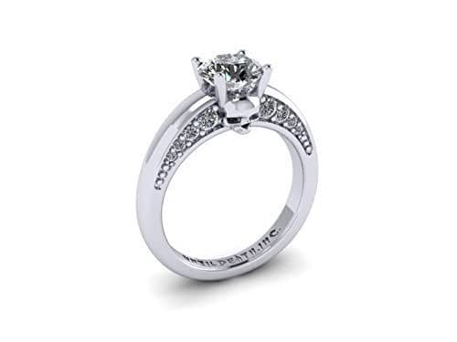 skull engagement ring made in 14k white gold