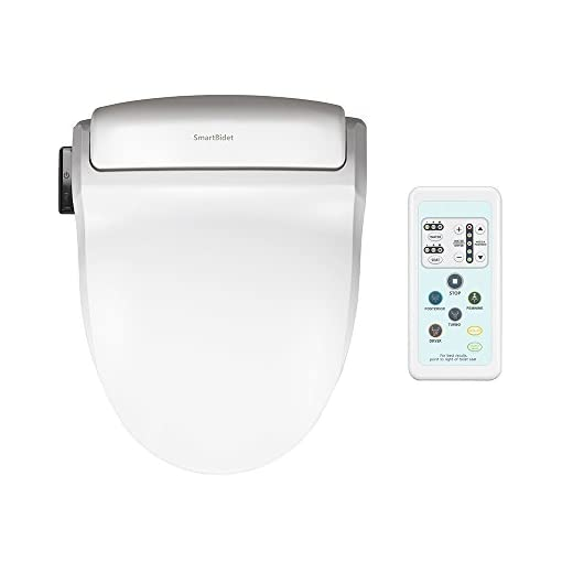 Miraculous Smartbidet Sb 1000 Electric Bidet Seat For Round Toilets With Remote Control Electronic Heated Toilet Seat With Warm Air Dryer And Temperature Caraccident5 Cool Chair Designs And Ideas Caraccident5Info