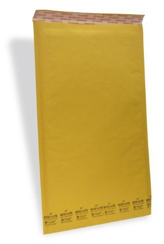 Ecolite #7 Size 14.25' X 20' Kraft Bubble Mailers Self Seal/ 50 Cs by Polyair