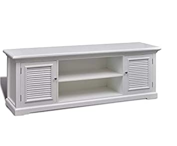 super popular 423b0 ce591 Shabby Chic TV Stand White Vintage Furniture 2 Door: Amazon ...