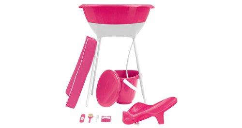 Nappy Bucket - Luma Complete Bath Set, Magenta Pink