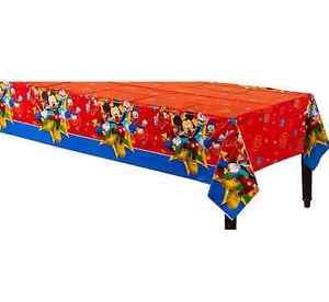 Amazon Com Disney Mickey Mouse Plastic Table Cover Birthday