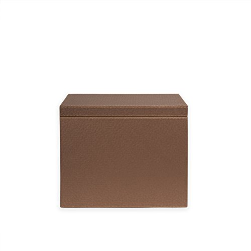 Spruce Storage Letter Hanging File Box (METALLIC BRONZE/ (Faux Leather File Boxes)