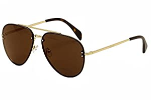 Celine Mirror CL 41391 J5G LC Gold Metal Aviator Sunglasses