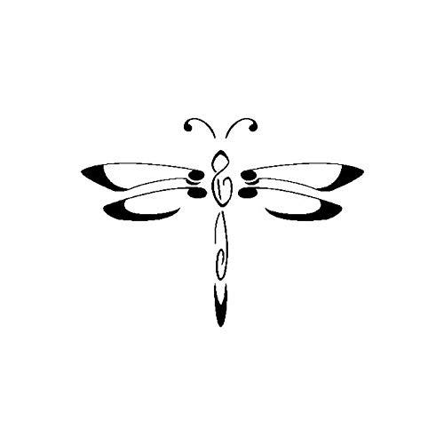 SHMAZ 12.9 Cm * 9.6 Cm Delicate Dragonfly Lichtheid Decal Auto Sticker Zwart/Zilver