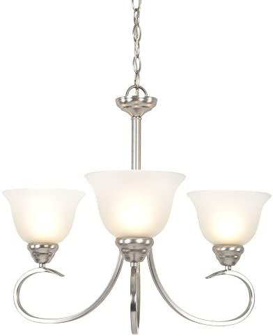 Yosemite Home Decor 93433-3SN Ribbon Fall Collection Three Light Chandelier