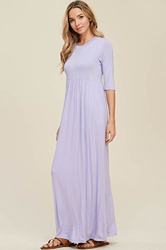 3 Maxi Annabelle Lavender Women's Side Long 4 Sleeve with Pockets Dresses a465HqwR4U
