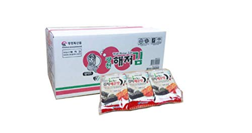 Kimchi Flavor - Kimchi Flavor Roasted Seaweed Snack, Lunch Pack size (Pack of 72)