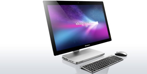 Lenovo IdeaCentre A Series 27-Inch All-in-One 512 GB SSD (Intel Core i7-3840QM processor - 2.80GHz with TURBO BOOST to 3.80GHz, 16 GB RAM, 512GB SSD Hard Drive, Full HD 1080p 1920x1080 LED backlit 10-Finger Multi-TOUCHSCREEN Display, BLU-RAY, HDTV, Windows 8) Desktop Computer PC TV Touch Screen A720 Series