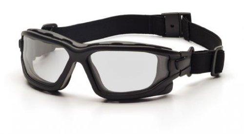 (12 Pair) Pyramex I-Force Glasses Black Strap-Temples/Clear Anti-Fog Lens (SB7010SDT)