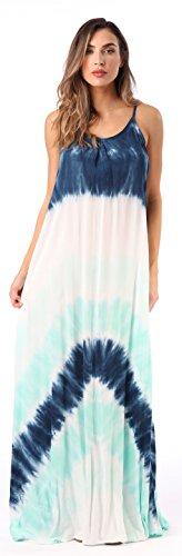 Riviera Sun 21765-NVY-L Summer Dresses Maxi Dress Sundresses for Women