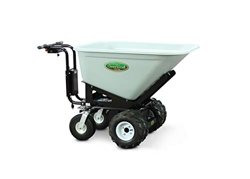 Overland Electric Powered Cart with 10 Cubic Foot Hopper on Heavy Duty 27-Inch Chassis, 750-Pound Capacity