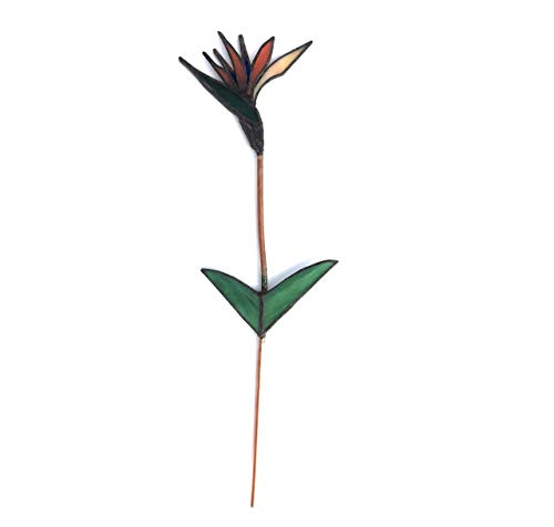 Stained Glass Bird of Paradise Stem
