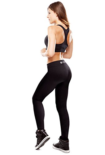 Copper Compression Womens Leggings/High Waist Tights/Yoga Pants. Guaranteed Highest Copper Content. #1 Copper Infused Active Fit Athletic/Activewear/Athleisure Form Fitting Black Pants