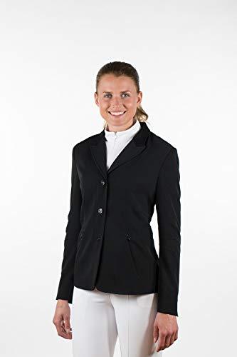 Finn-Tack Horze Women's Black Velvet Collar Riding English Dressage Show Jacket (US 8/EU 38)