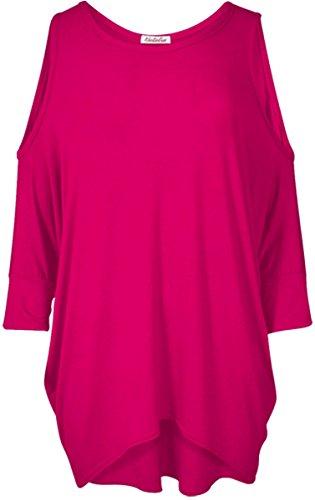 donna 8 Cold Top pipistrello Tunica maniche lunghe Out a maniche Cut a Da Shoulder maglietta nbsp; dress RgdWqZ7wn
