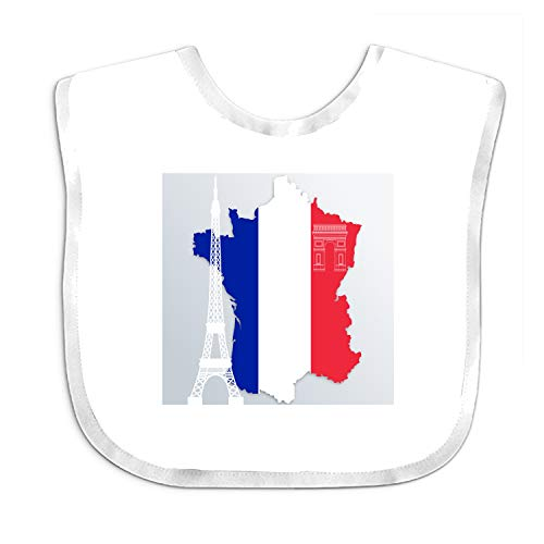 Feeder Bib French Flag Eiffel Tower Baby Girl Bandana Drool Bibs for Drooling and Teething