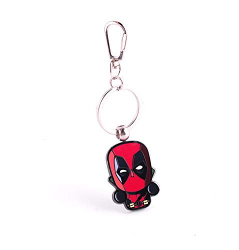 BeAwesome Marvel Comics Key Chain Ring Holders for Men and Women (Deadpool)