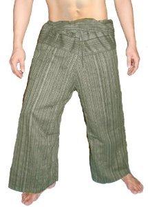 100% Heavy Cotton Thai Fisherman Pants Yoga Pregnancy Pants Striped-Medium - Thai Dragon Yoga Pants Cotton