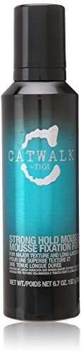 (TIGI Catwalk Strong Hold Mousse for Unisex, 6.7 Ounce)