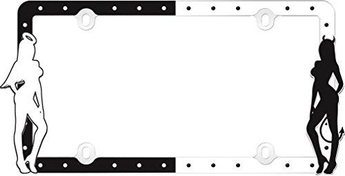 Cruiser Accessories 19000 Angel & Devil, Black/White License Plate Frame -