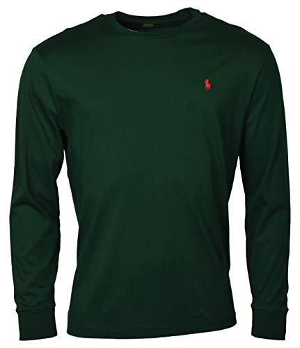 - Polo Ralph Lauren Men Long Sleeve Pony Logo T-Shirt (Small, Green)