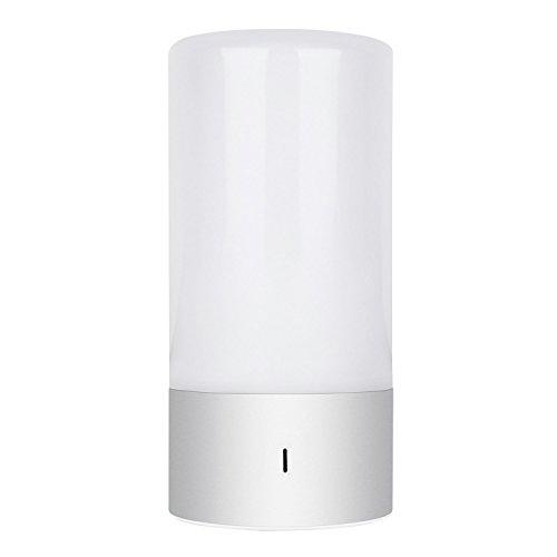 amzdeal LED Farbwechsel Lampe Atmosphäre Tischlampe mit Touch-Funktion Stimmungslicht RGB Dimmbar Warmweiß
