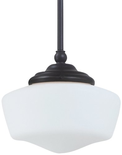 Sea Gull Lighting 65436-782 Academy Pendant, Small One Light, Brushed Nickel