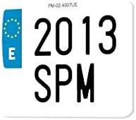 SPM Matricula de Moto policarbonato 100% HOMOLOGADA (Moto Corta Enduro): Amazon.es: Coche y moto