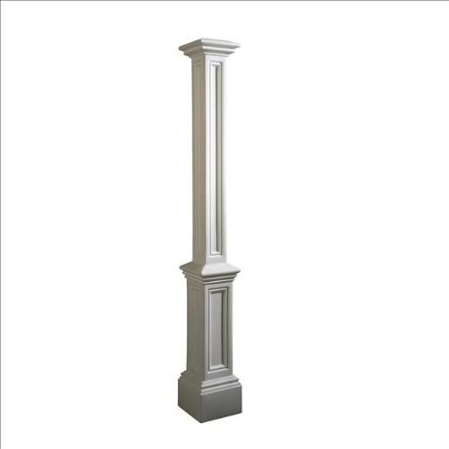 Mayne 5837-WH Signature Outdoor Lamp Post, 9.5×9.5, White