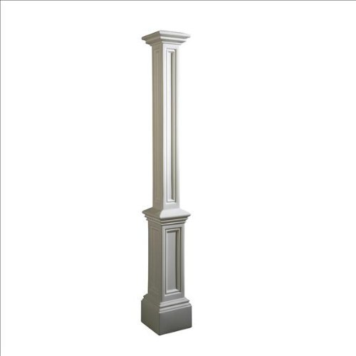 Mayne 5837-BK Signature Lamp Post Decorative Post - Vinyl Lamp Post