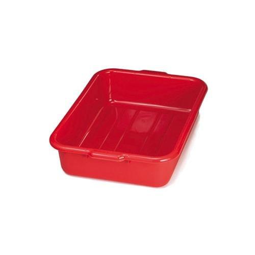Tablecraft 1529R 20 x 15 x 5 Red Polyethylene Plastic Bus Tub Bus Box