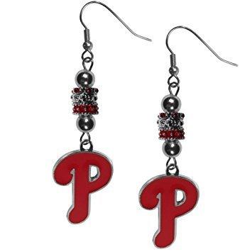 - Siskiyou MLB Philadelphia Phillies Womens Euro Bead Earrings