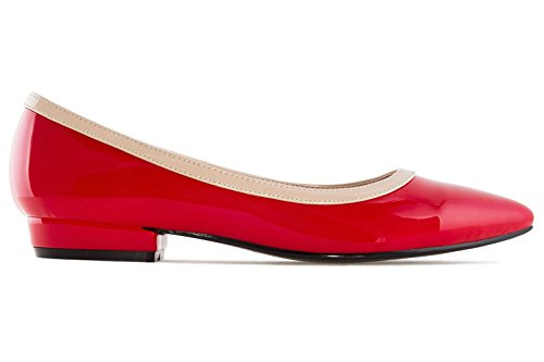 Andres Machado , Ballerines pour femme rouge Rot