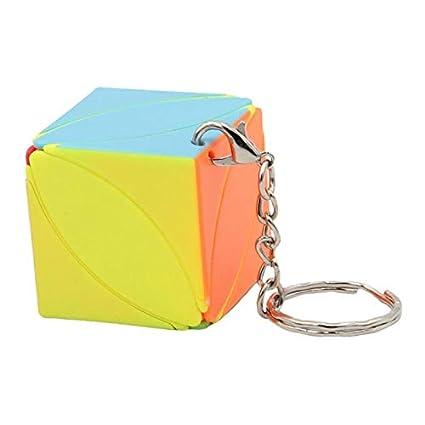 Cubo Mágico con Llavero Juguete Divertido para Mujer Hombre ...
