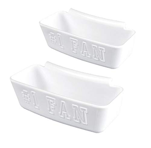 Big Sport Gifts Build a Bowl Skyboxes for Bowl Enchancement and Expansion, Set of 2 White