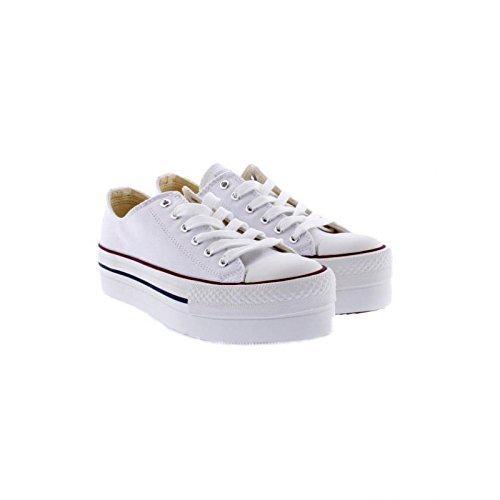 Inconnu 1061100, Damen Sneaker Blanc (Blanco 20)