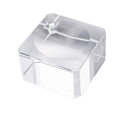 LONGWIN Square Dimple Blocks Glass Ball Display Stand for 30-50mm Sphere (1pc)