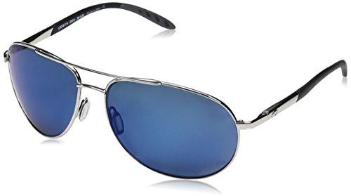Costa Del Mar Wingman Sunglasses, Palladium Silver/Blue Mirror 580 Plastic Lens