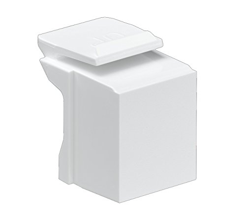 - Leviton 41084-BW Blank Quickport Insert, 10-Pack, White
