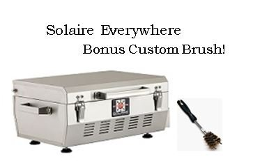 (Solaire SOL-EV17A Everywhere Portable Infrared Propane Gas Grill With FREE Custom Cleaning Brush, Stainless Steel)